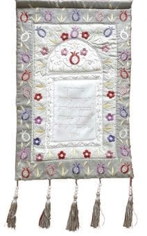 Wall Decor Home Blessing Pomegranates Grey and Silver - English