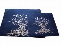 Judaica Tallit & Tefillin bag set Impala fabric Tree of Life Blue