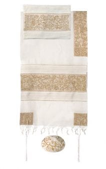 Yair Emanuel Tallit Set  Hand Full Embroidered The Matriarchs in Gold