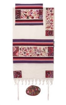 Yair Emanuel Tallit Set  Hand Full Embroidered The Matriarchs in Color