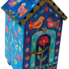 Jewish Charity Tzedakah Box with Birds and Flowers Yair Emanuel