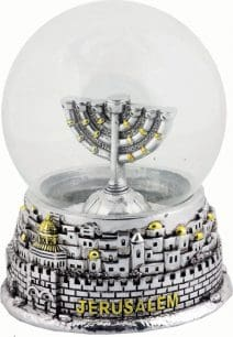 Snowball Menorah
