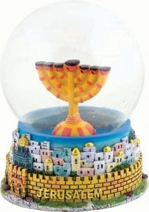 Snowball Colorful Menorah