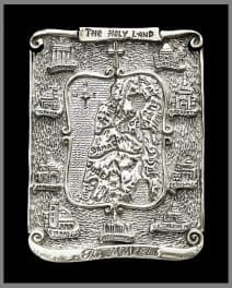 Silver Electroformed Map of Jesus' Travels in the Holy Land