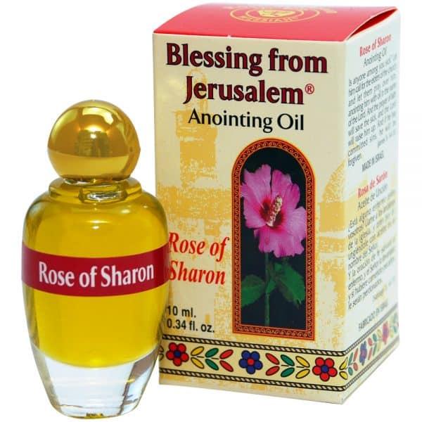 Rose of Sharon Anointing Oil (10 ml.) Blessing from Jerusalem