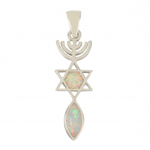 Grafted In Opal Pendant - The Messianic Seal of Jerusalem - Ivory