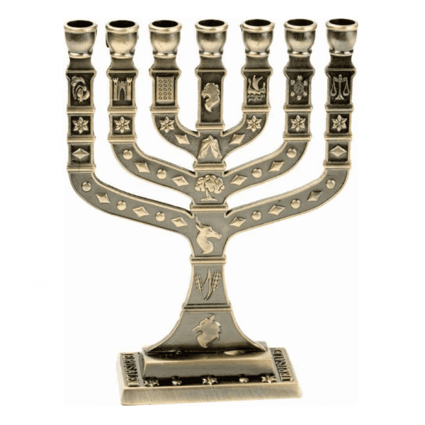 7 Branch 12 Tribes Menorah Plated in Cooper