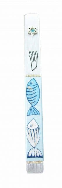 Mezuzah Case Hand-Crafted Fish - Exclusive Design