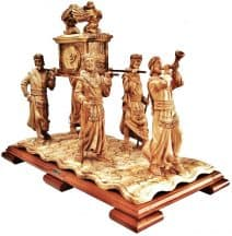 The Ark Of The Covenant Scene  - Hand Made from Olive Wood with Mahogany Base.