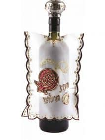Wine Bottle Cover with Red Pomegranate