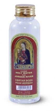 Holy Water from Jordan River - Virgin Mary Bottle 100 ml 3.4 fl. oz.