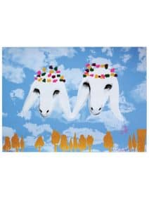 Angels in The Skies - Artist Menashe Kadishman - Serigraph