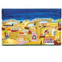 Wood Painted Challah Board – Old Jerusalem