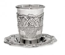 Wine Kiddush Cup with Grapes