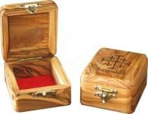 Olive Wood Jerusalem Rosary Box with Jerusalem  Cross