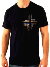 The Holy Sites Cross T- Shirt