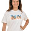 Dead Sea Lowest Place T-Shirt  White