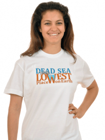 Dead Sea Lowest Place T-Shirt  White