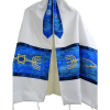 Hand Painted SilkTallit with Messianic Seal