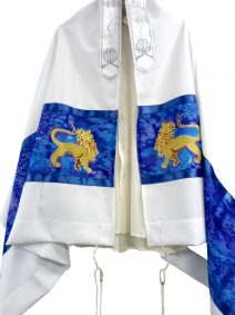 Hand Painted Prayer Shawl Lion of Judah