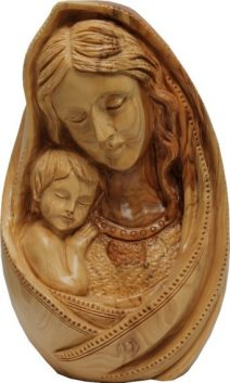 Virgin Mary and Child Egg Shaped