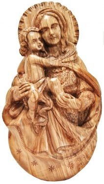 Madonna and Child Jesus Wall Plaque