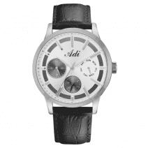 Elegant Casual Men's Wrist Watch Silver & Grey by Adi,Israel