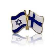 Finland - Israel Friendship Lapel Pin  - Holy Land Gift