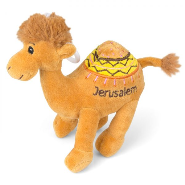 Camel Plush Doll with Jerusalem Embroidered