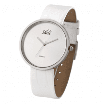 Adi Watches Woman Elegant White Wrist Watch Citizen Mechanism Quartz No Numbers