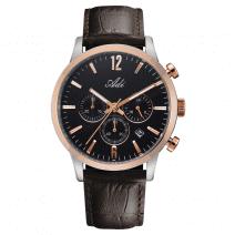 legant Casual Men's Gold & Black Wrist Watch by Adi