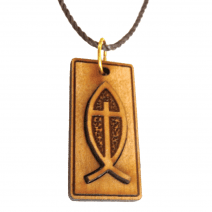 Ichthus - Cross within a Fish Engraved Pendant
