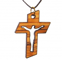 Cross with Crucifix Cut Out Pendant