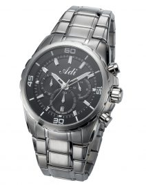 Elegant Casual Men's Wrist Watch Black & Grey by Adi