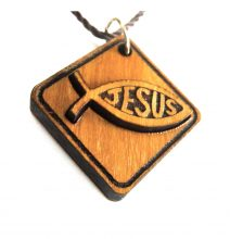 Ichthus - Fish Engraved with Jesus Pendant