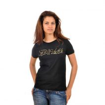 Jerusalem Handwriting Black T-Shirt - Women's cut