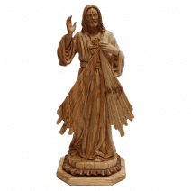 Olive Wood Jesus of Divine Mercy