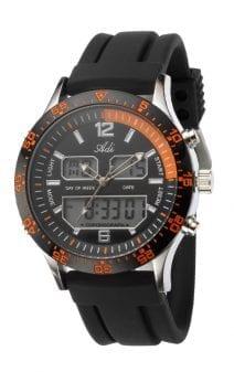 Men's Sport Orange and Black Wrist Watch by Adi