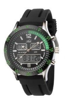 Adi Watches Men's Sport Green and Black Wrist Watch Citizen Mechanism Quartz