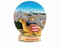Ceramic Colorful Magnet with Jerusalem View & Camel