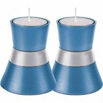 Blue and Silver Yair Emanuel Tea Light Candle Holder