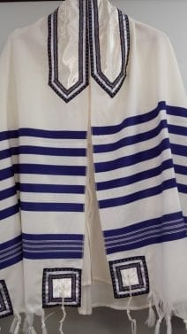 Blue and White Classic Tallit Set