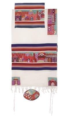 Yair Emanuel Tallit Set  Hand Full Embroidered Jerusalem