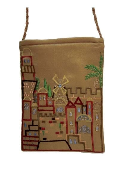 Gold Jerusalem Passport Bag By Yair Emanuel