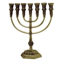 7-Branch-Menorah-Temple-Replica-85-Brass-Jerusalem-Israel-Gift-152753489019