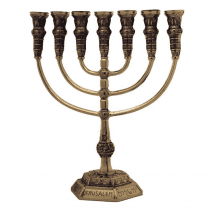 7-Branch-Menorah-Temple-Replica-11-Bronze-Jerusalem-Israel-Gift-162721601405