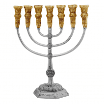 7-Branch-Menorah-Temple-Replica-137-Silver-Gold-Plated-Jerusalem-Israel-152753480219
