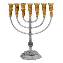 7-Branch-Menorah-Temple-Replica-137-Silver-Gold-Plated-Jerusalem-Israel-152753480219