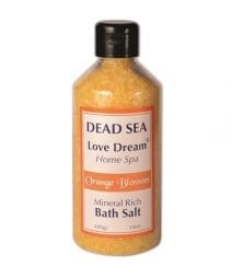 Ein Gedi  Mineral Rich Bath Salt Orange Blossom -Collection Love Dream, Dead Sea Cosmetics | Holy Land Web Store