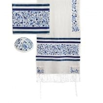 Yair Emanuel Tallit Set The Matriarchs in Blue Full Embroidery
